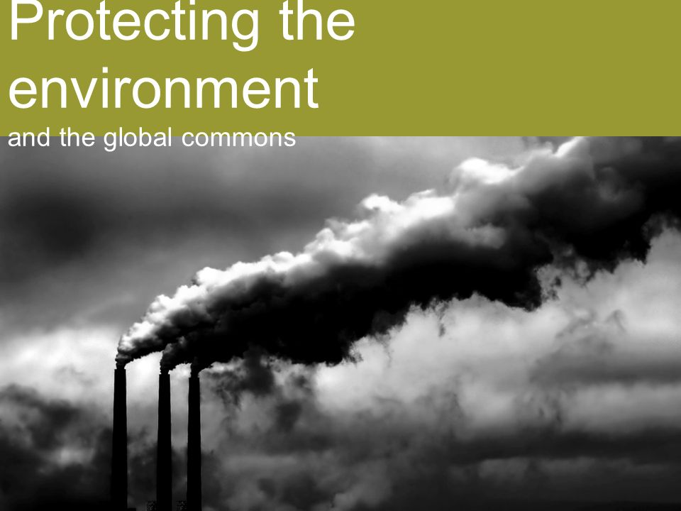 Protecting the environment and the global commons