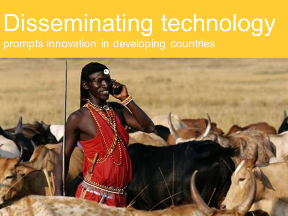 Disseminating technology prompts innovation in developing countries
