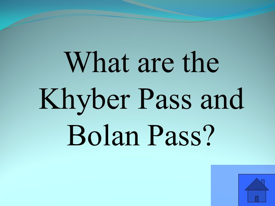What are the Khyber Pass and Bolan Pass