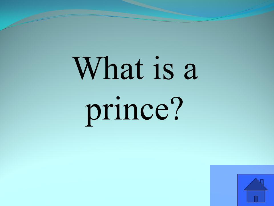 What is a prince