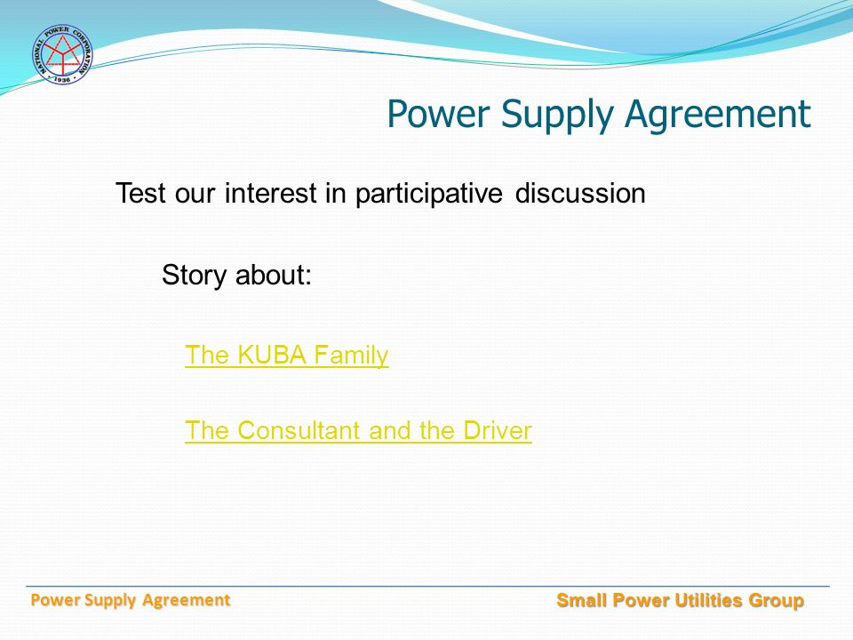 National Power Corporation Small Power Utilities Group Power Supply