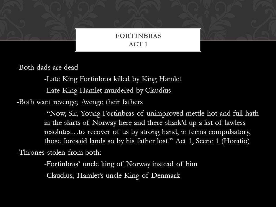 how are laertes and fortinbras foils for hamlet