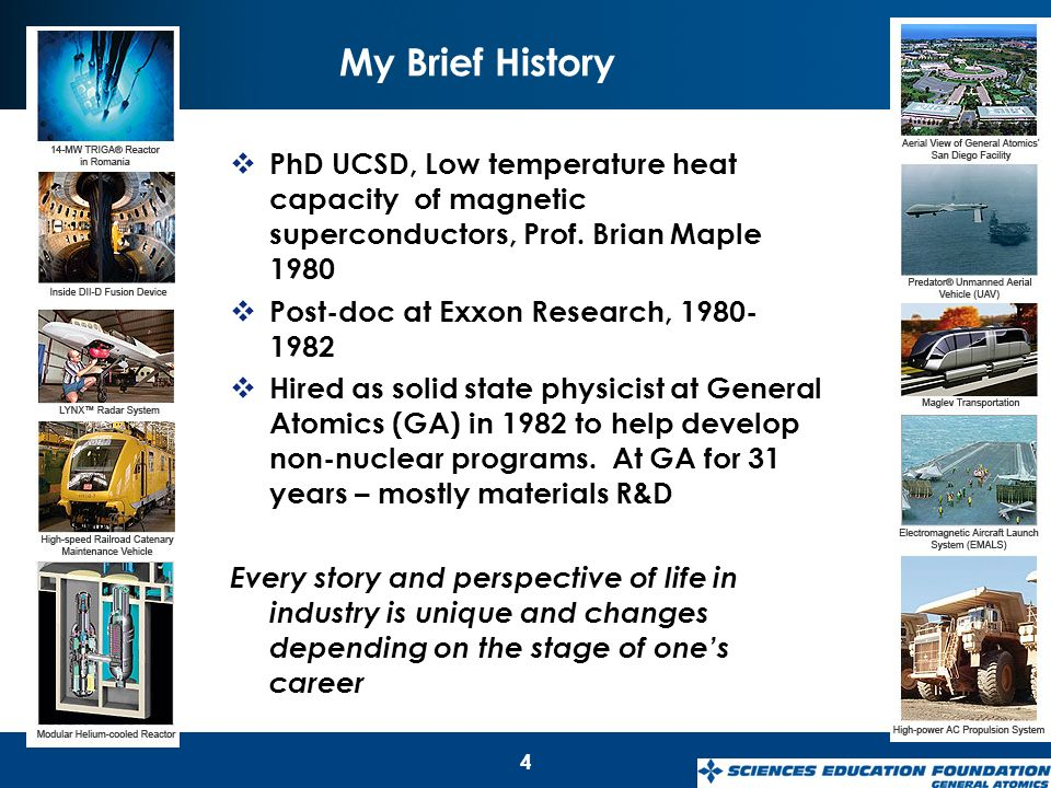 1 Dr  Larry Woolf General Atomics Aeronautical Systems, Inc  General