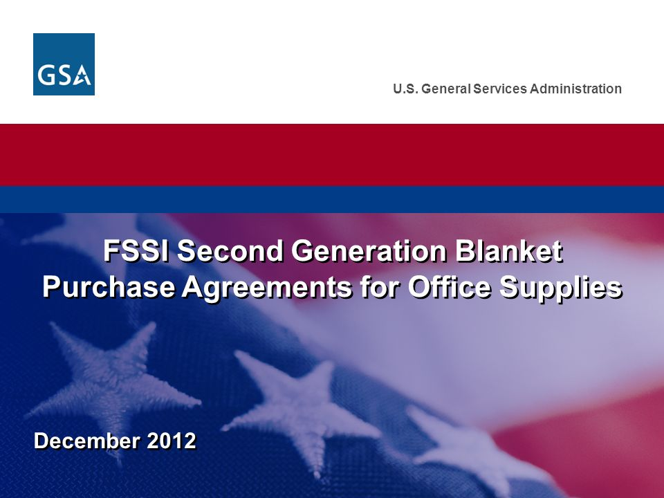 Us General Services Administration December 2012 Fssi Second