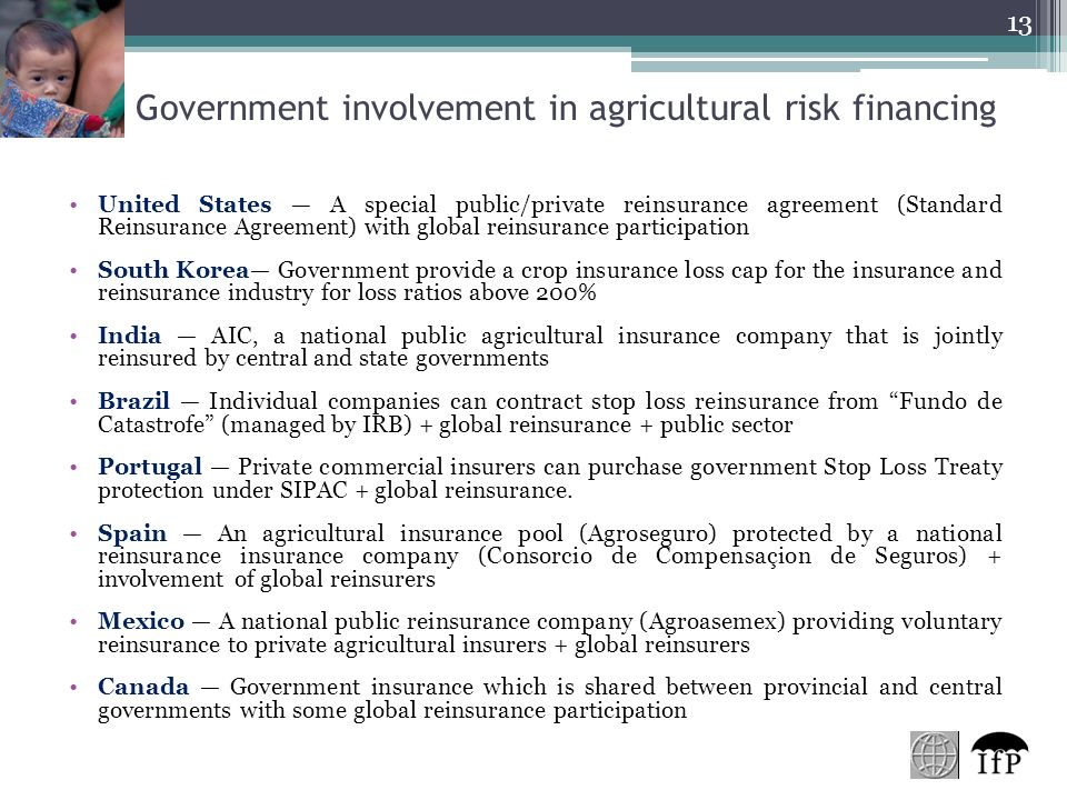 Role Of Governments In Agricultural Insurance Ramiro Iturrioz