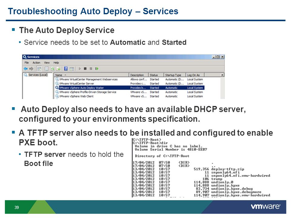 2009 VMware Inc  All rights reserved vSphere Autodeploy Cian O