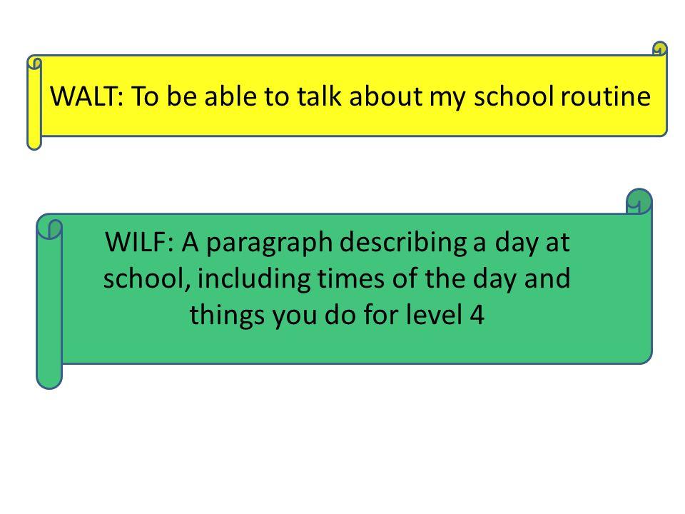 my school days paragraph