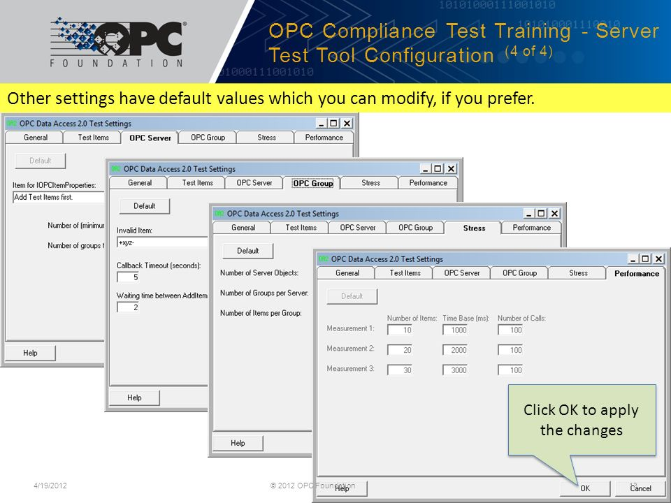 Classic Data Access Training OPC Classic Compliance Test