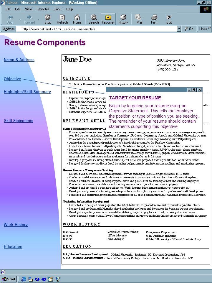 writing a skill based resume name address objective skill