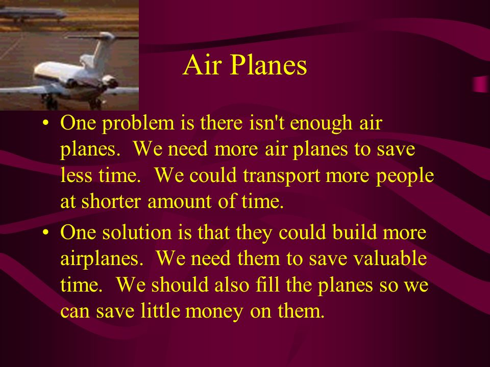 Problems and Solutions To Air Traffic Controllers Joshua