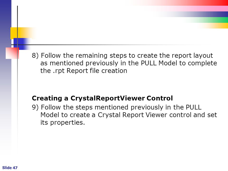 Chapter 1 Getting Started with VB NET and Crystal Reports Debbie St