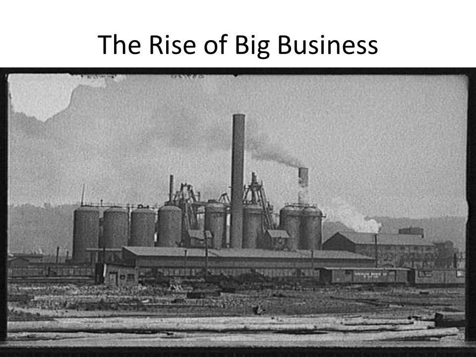 how did the federal government support the rise of big business