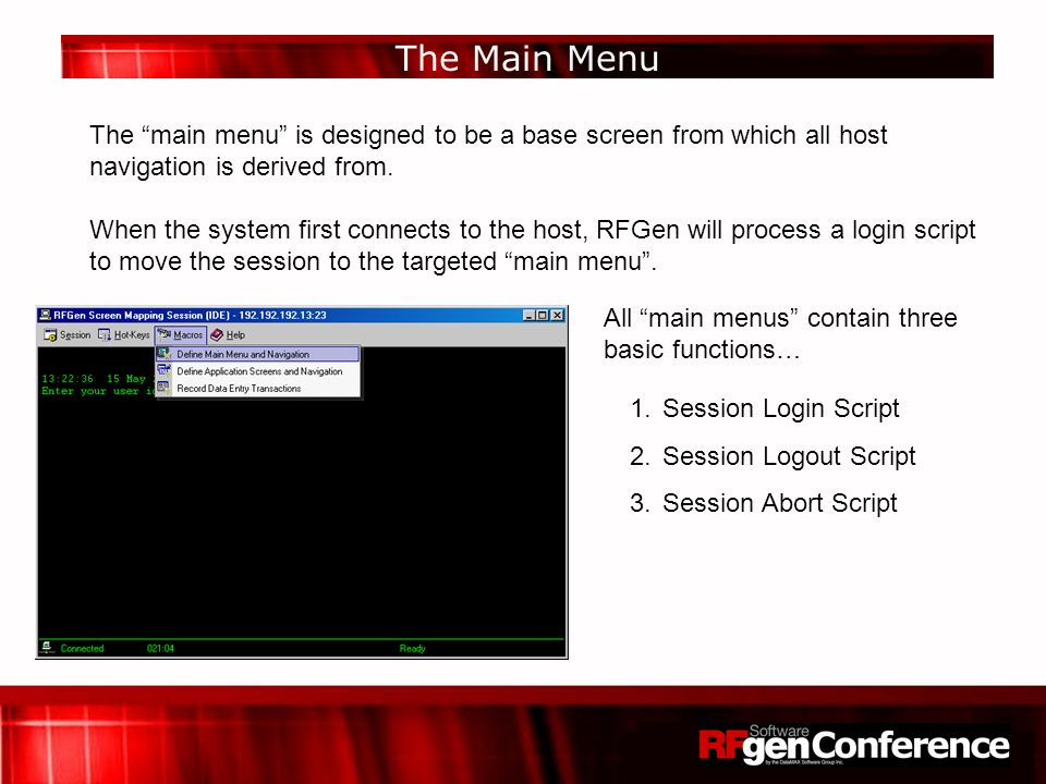RFGen Screen Mapping enables applications to interact with