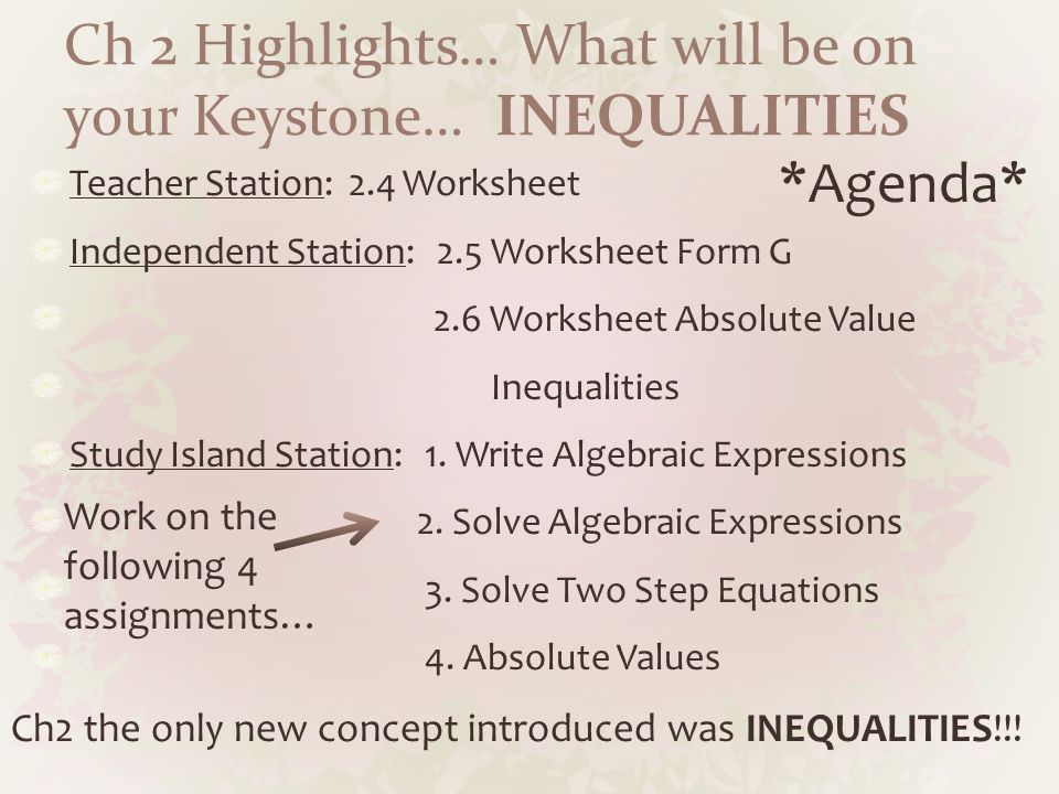 Keystone prep april curriculum agenda teacher station page 36 what will be on your keystone inequalities teacher station 24 fandeluxe Gallery