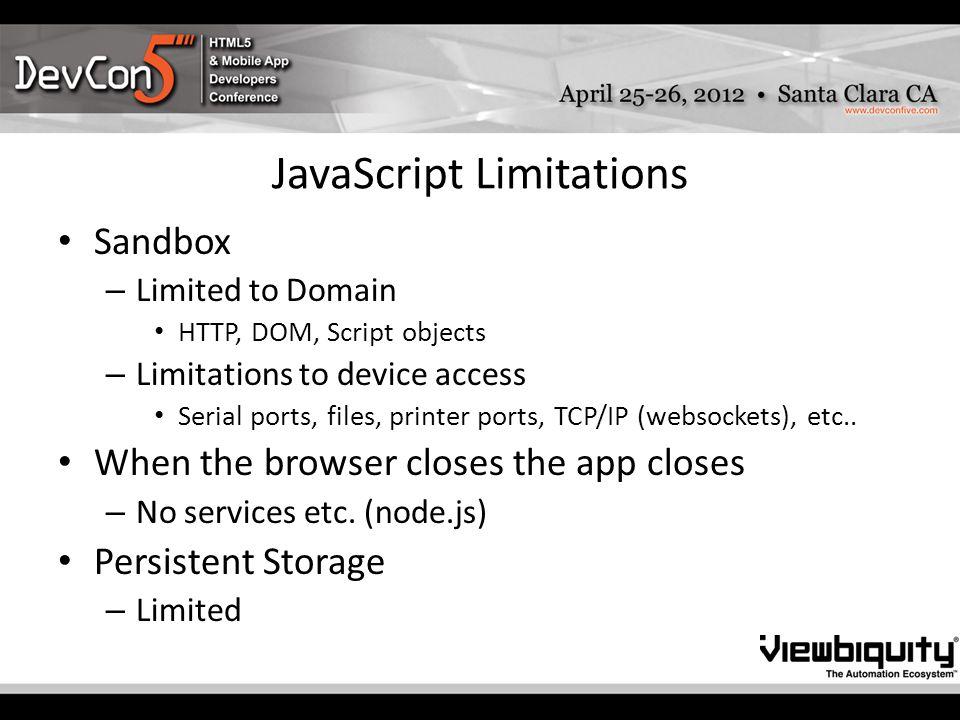 HTML+JavaScript M2M Applications Viewbiquity Public hybrid