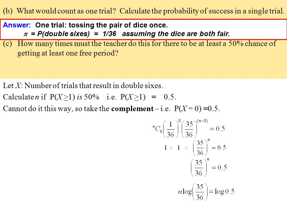 Statistics and Modelling Course Probability Distributions