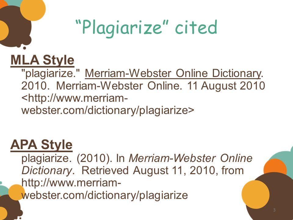 citing dictionary com mla