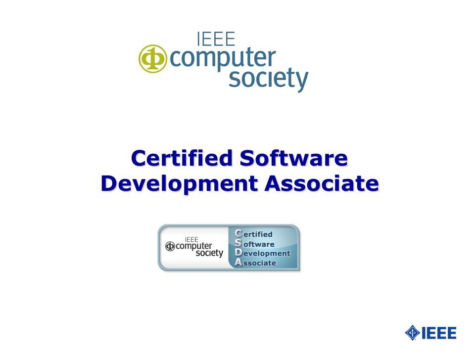 Certified Software Development Associate Slide 2 What Is The Ieee