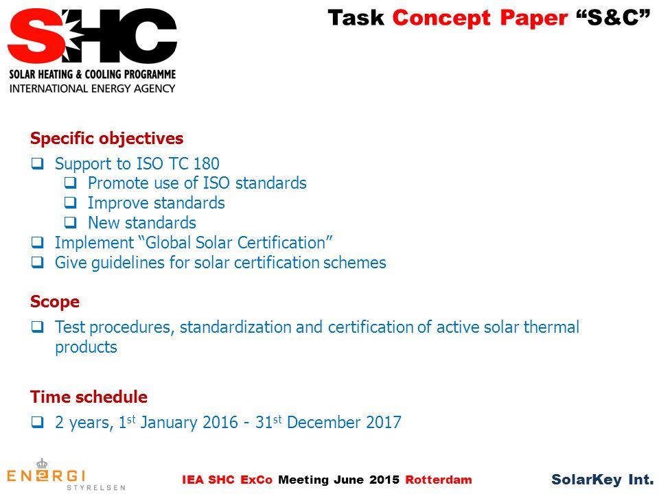 Task Concept Paper Sc Iea Shc Exco Meeting June 2015 Rotterdam