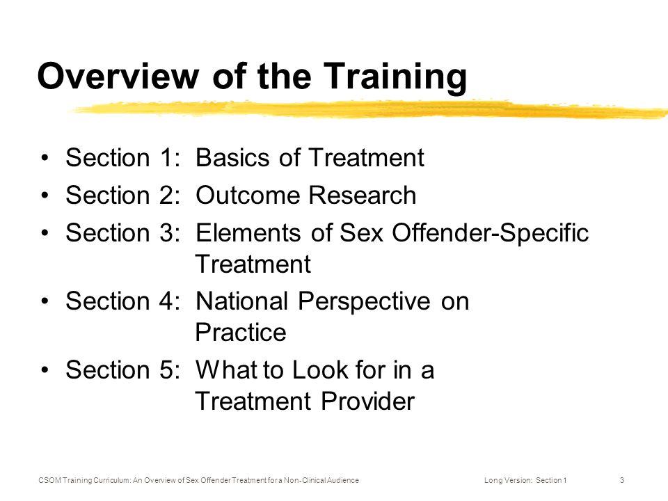 Training to treat sex offenders