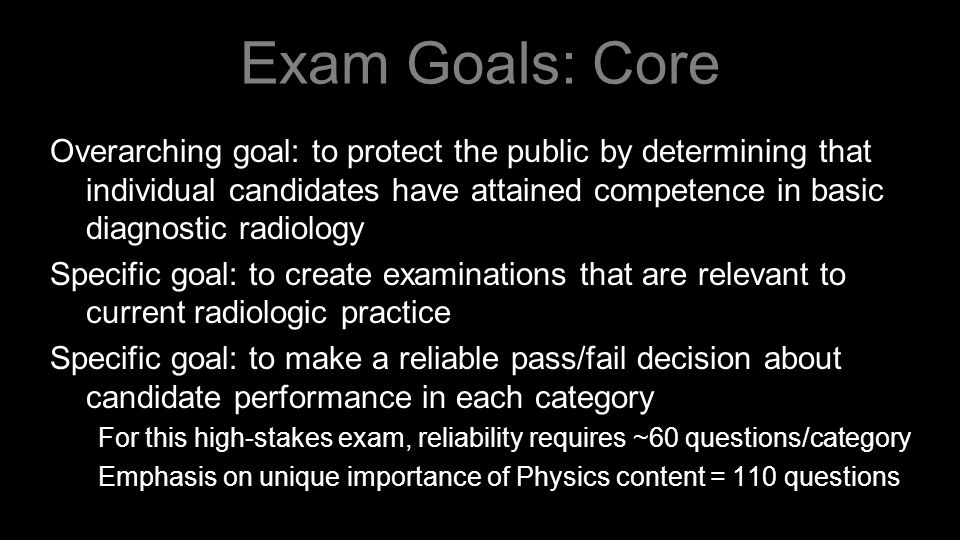 ABR Exams of the Future Examination Details Impact on Training