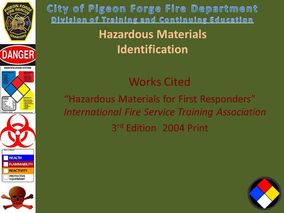 Chapter 3 Hazardous Materials Identification All Presentation