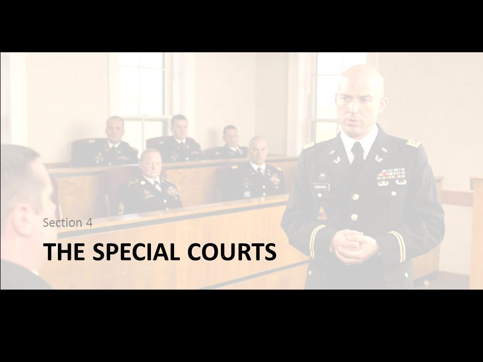 THE SPECIAL COURTS Section 4