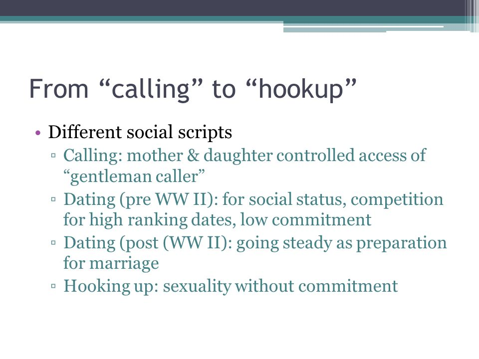 Hookup someone in a lower social class