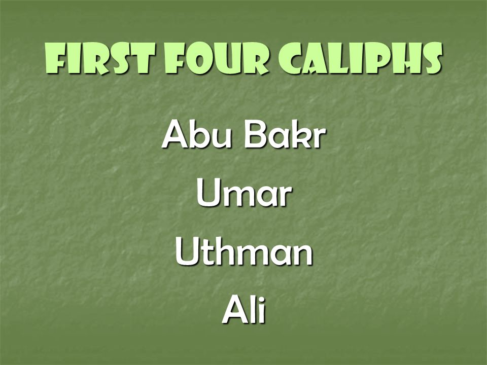 4 caliphs of islam
