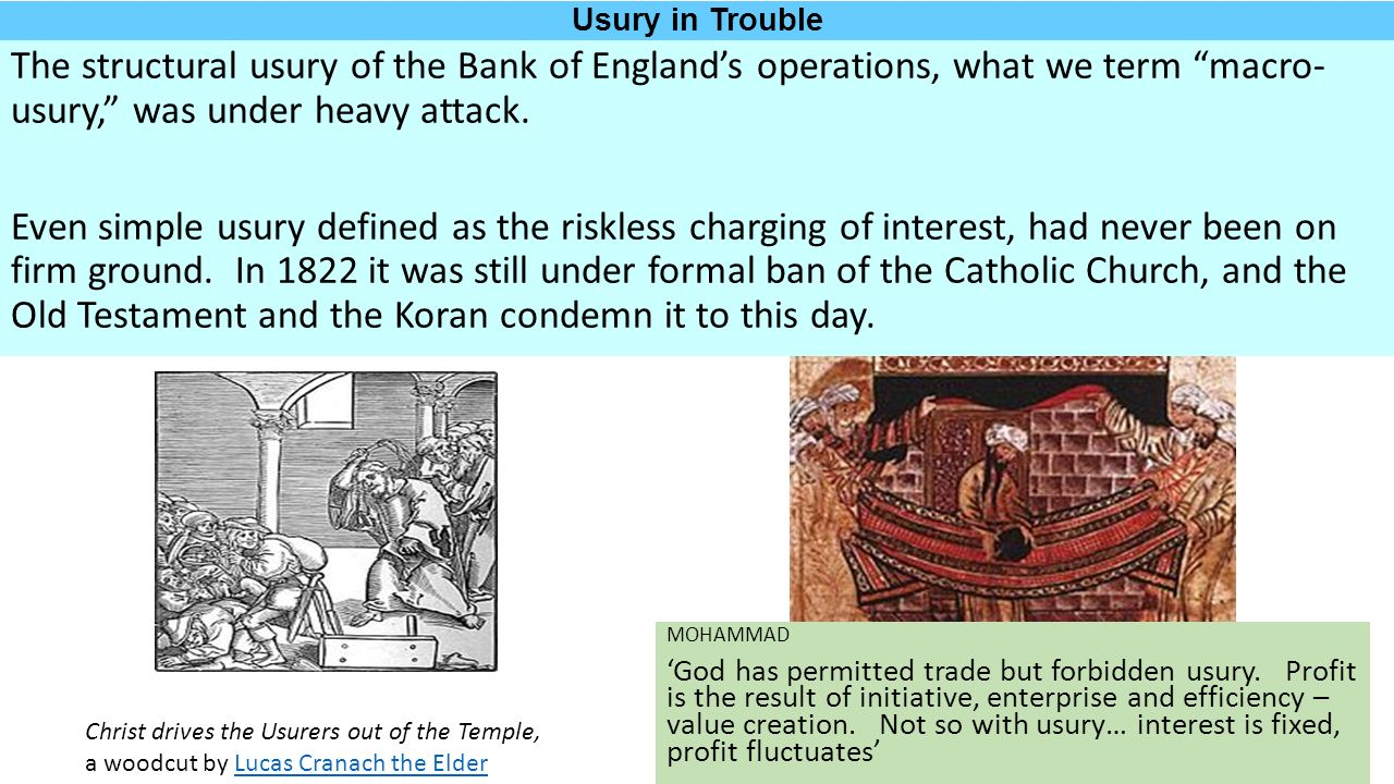 chapter 13 – part 1 the usury debate continues the lost science of