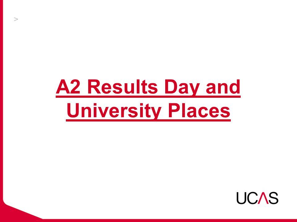 A2 Results Day and University Places