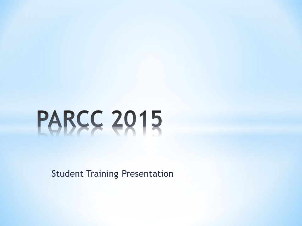 Student Training Presentation