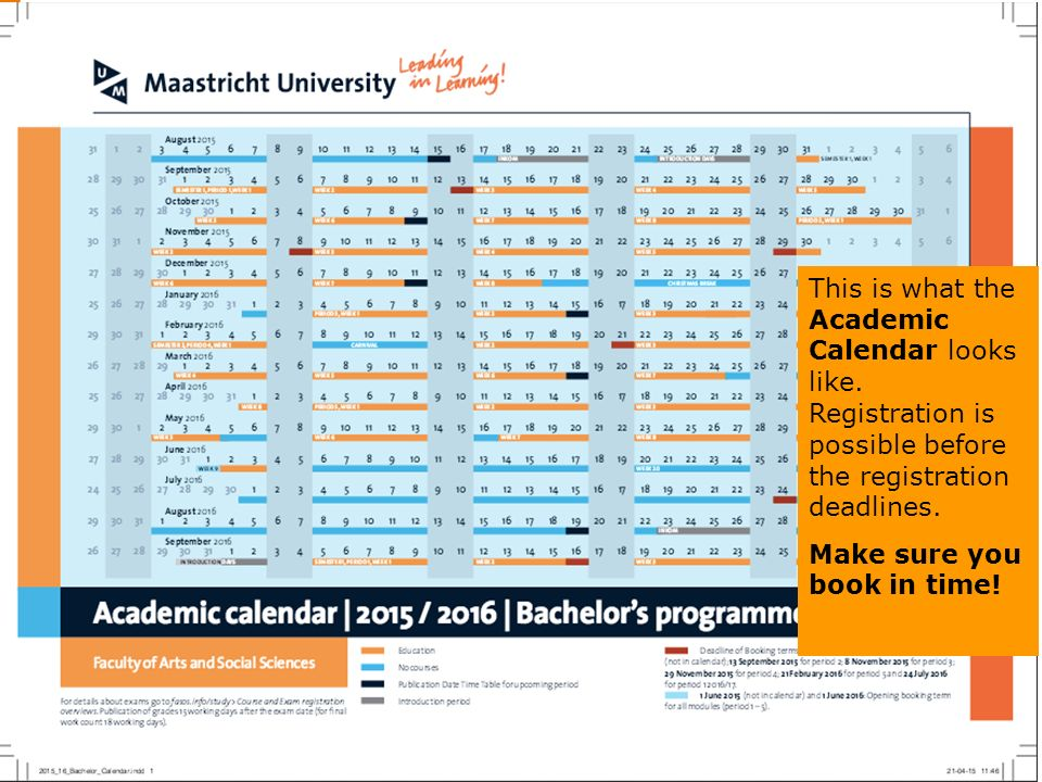 Ucm Academic Calendar.My Um Register For Education And Exams Bachelor Only Check Your