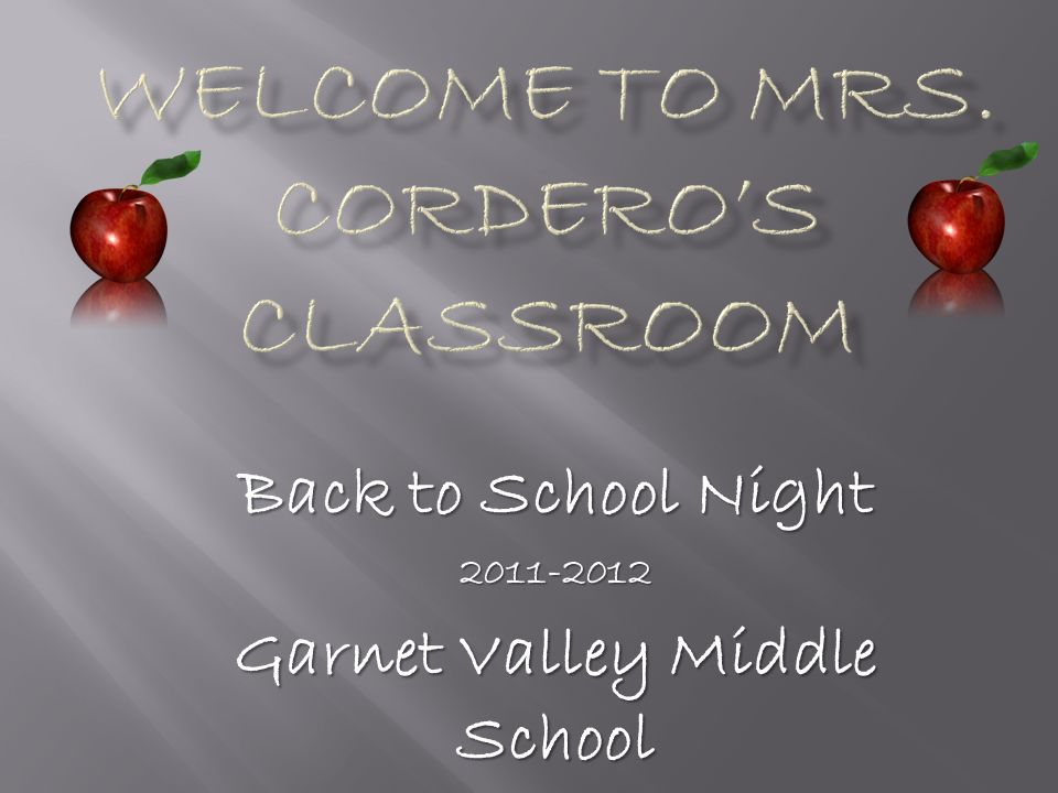 Back to School Night Garnet Valley Middle School  - ppt download