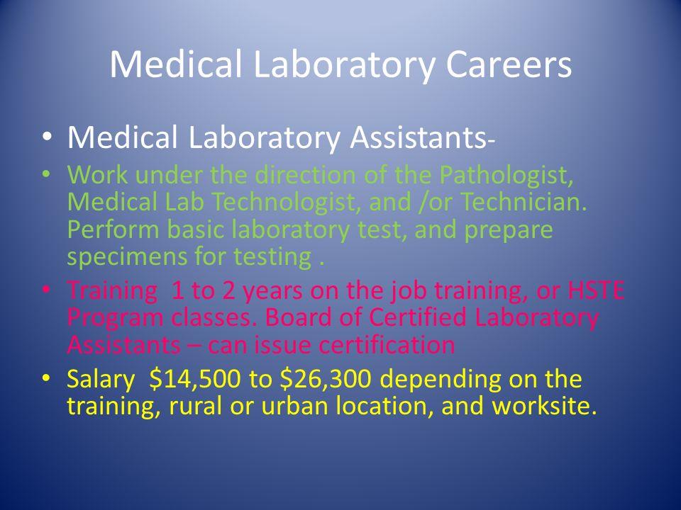 Medical Laboratory Careers Mrs V Kirkley Rn Med Ppt Download