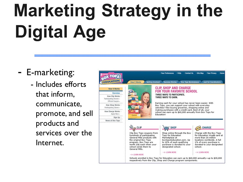 Direct / Online marketing 17  Marketing Strategy in the