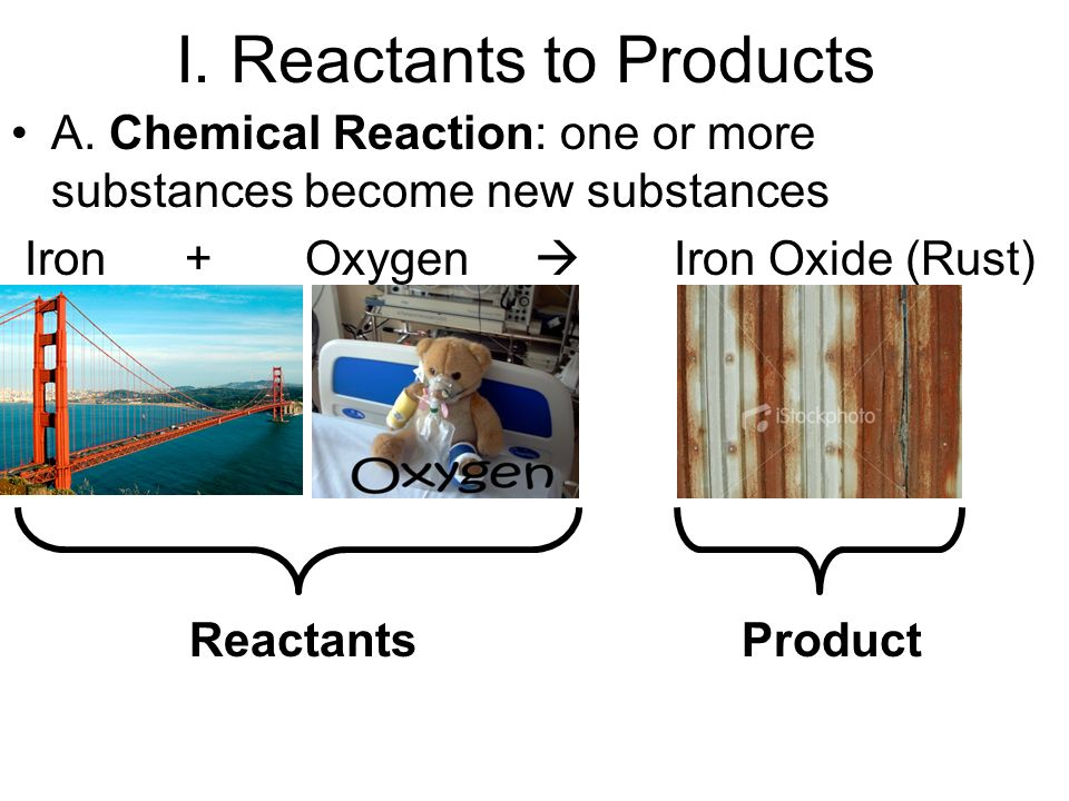 I. Reactants to Products A.
