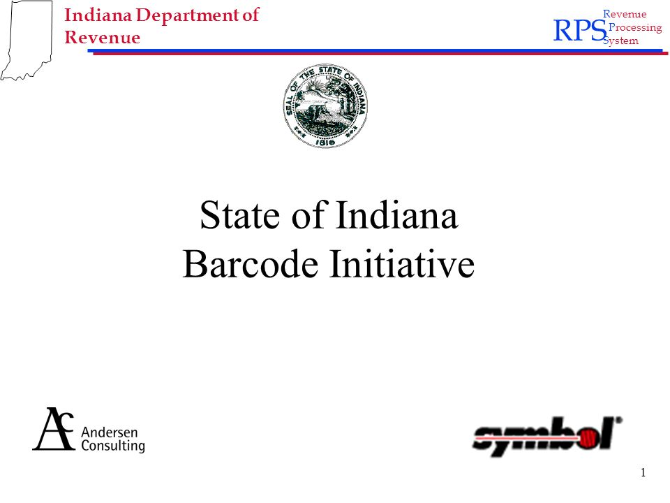 Rps Revenue Processing System Indiana Department Of Revenue 1 State