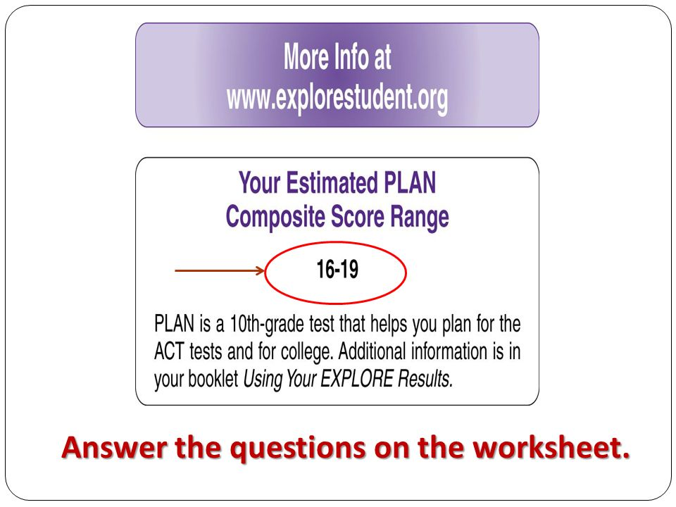 11 Answer the questions on the worksheet.