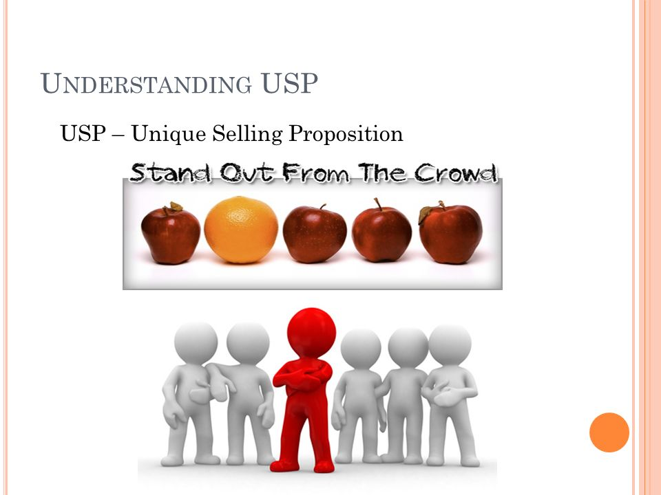 U NDERSTANDING USP USP – Unique Selling Proposition