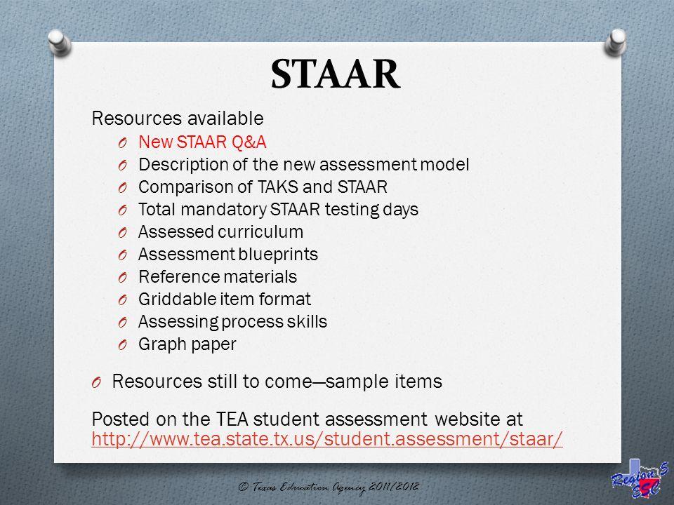 STAAR Assessment Update Presented by Region 5 ESC February