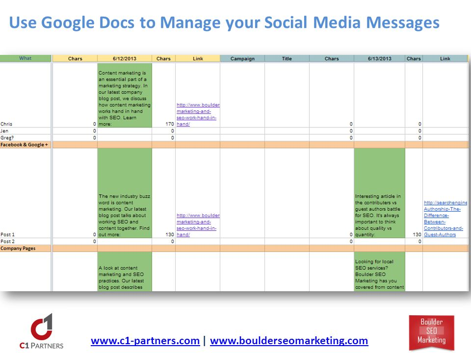 Use Google Docs to Manage your Social Media Messages   |
