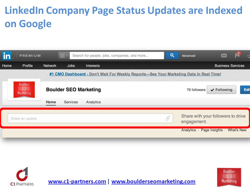 LinkedIn Company Page Status Updates are Indexed on Google   |