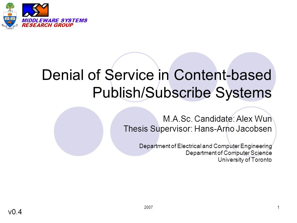 denial of service thesis