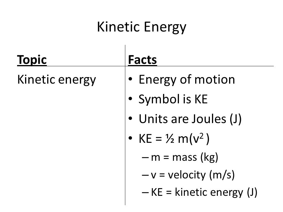 Power Work And Energy Physics January 2 And 3 Objectives Define
