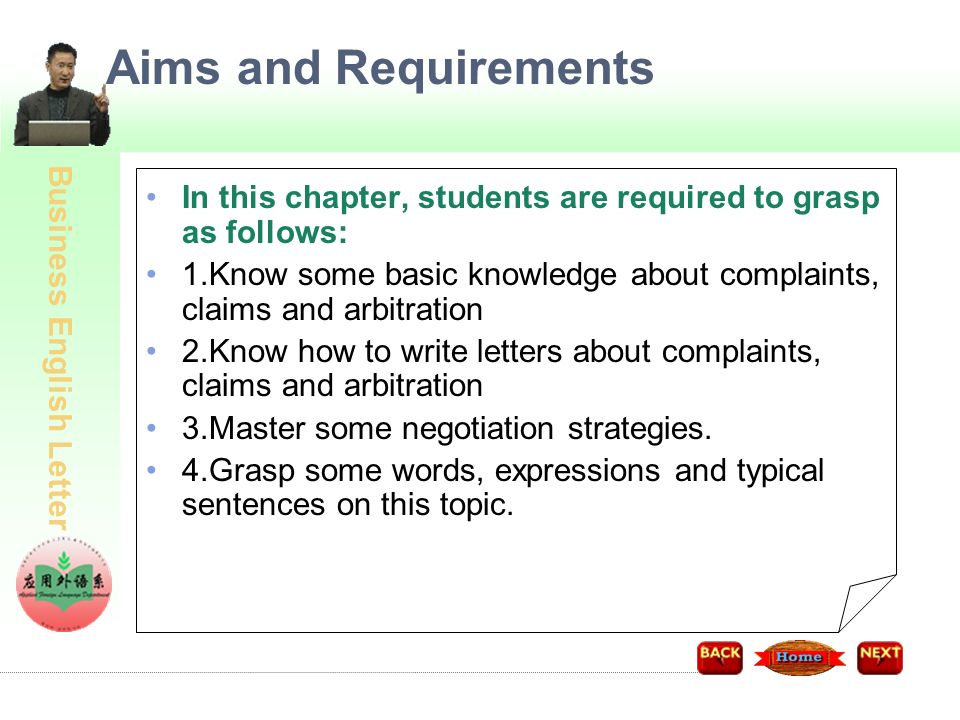 Business English Letter Task6 Complaints, Claims and Arbitration ...