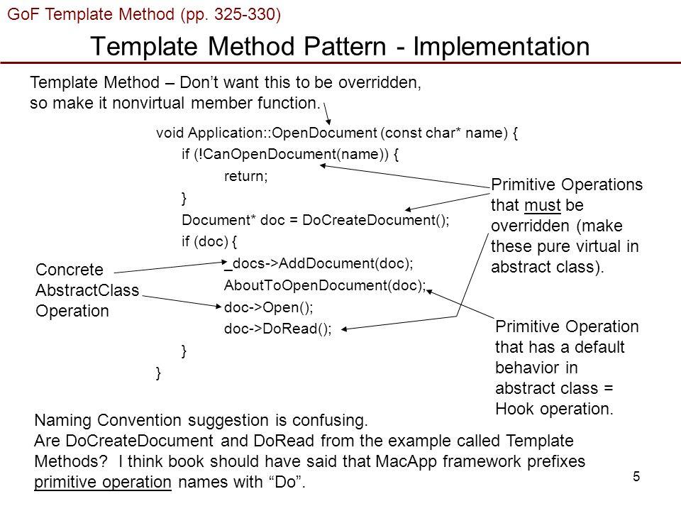 1 Gof Template Method Pp Gof Strategy Pp Ph Single User
