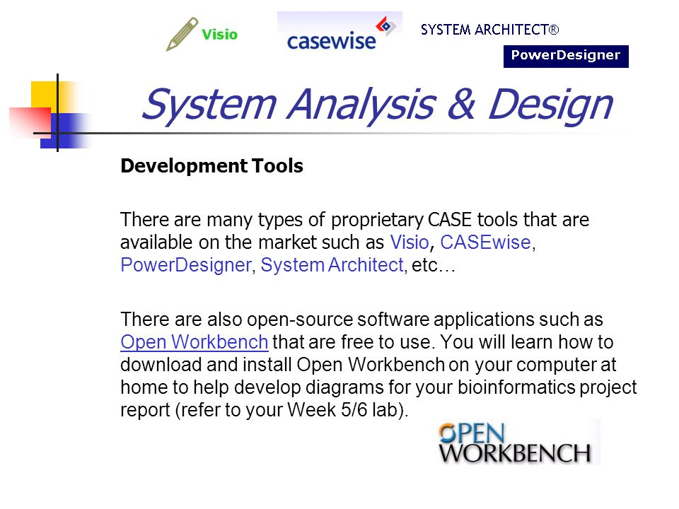 Bif703 System Analysis Design An Introduction Text Coverage Bioinformatics Software Engineering Pages Ppt Download