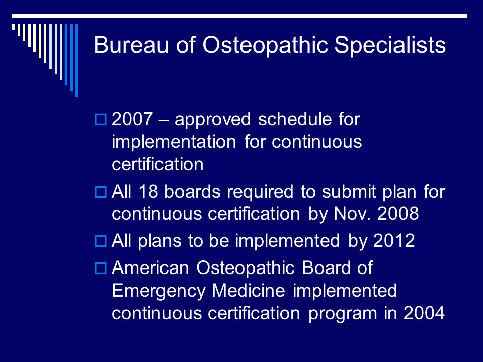 American Osteopathic Association Continuous Certification Process ...