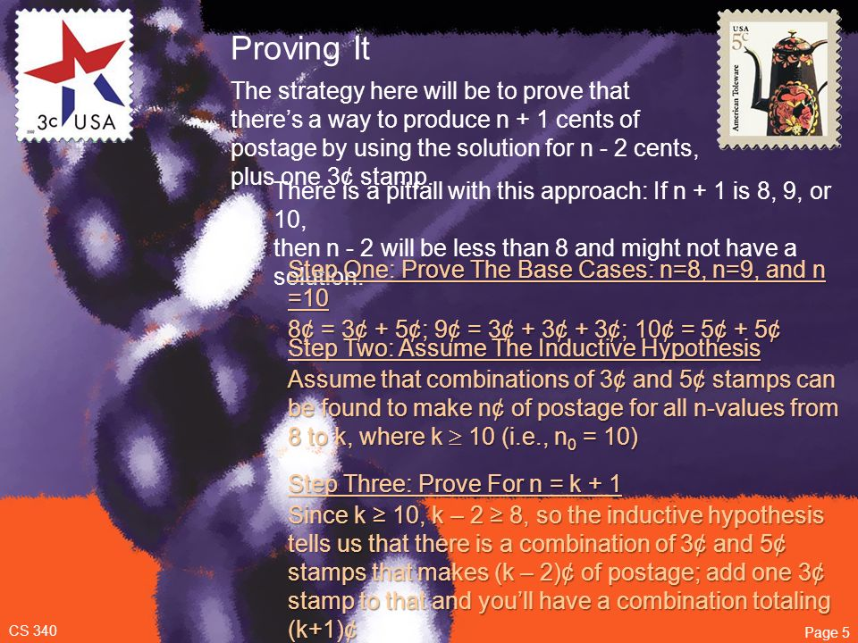 Chapter 1: Introduction Mathematical Proofs Mathematical Induction